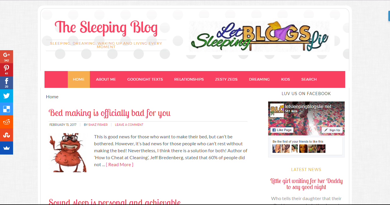 Let Sleeping Blogs Lie