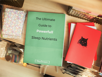 Sleep nutrients books infographic cover
